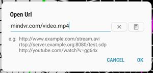 Input URL Screenshot