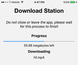Step 5 - Download Progress Screenshot